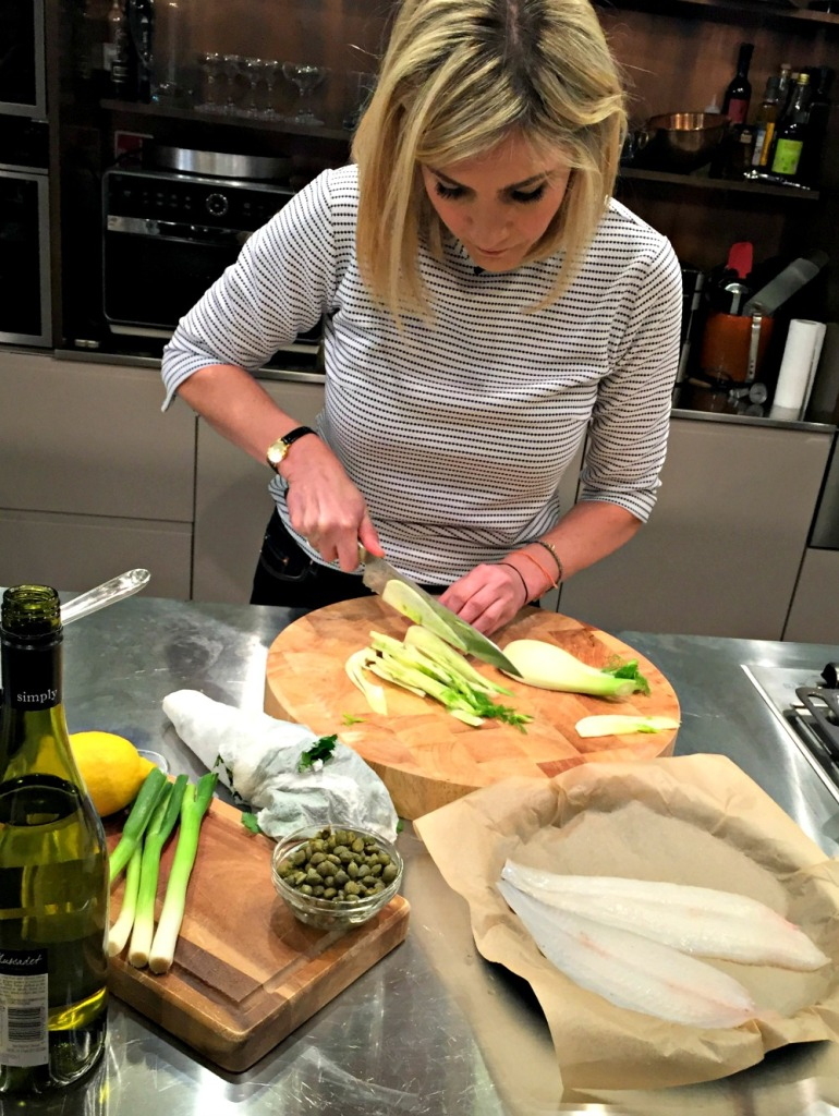 Lisa Faulkner cooking