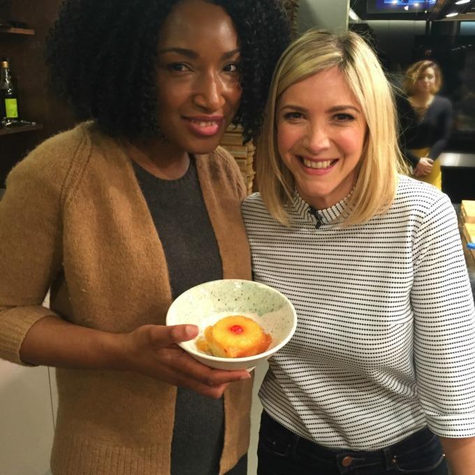 Lisa Faulkner and her Upside Down Pineapple Pudding