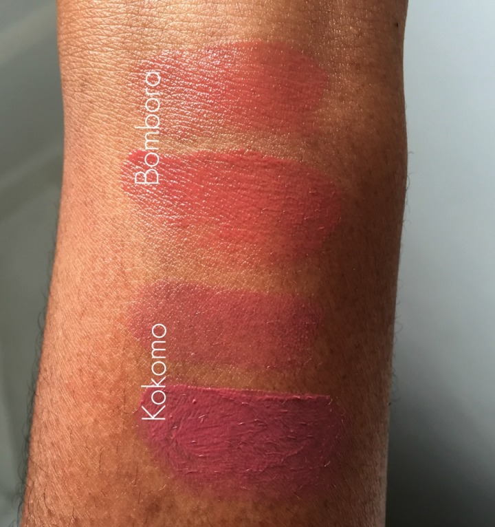 ILIA Bombora and Kokoma Tinted Lip Condition swatched