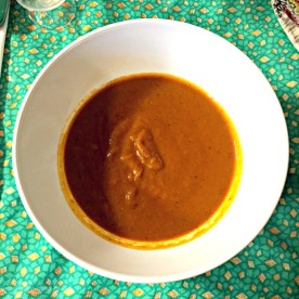 Yaji butternut squash soup (vegan) starter, Tokunbo's Kitchen