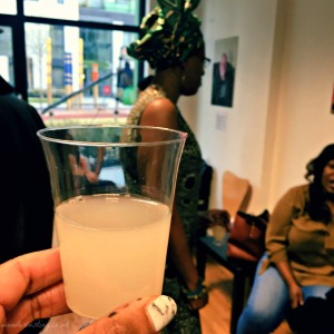 Palm wine, made from the sap of palm trees, cheers!