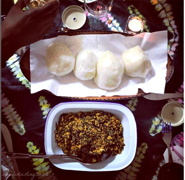 Pounded yam and egusi stew, Tokunbo's Kitchen (vegan and gluten free)