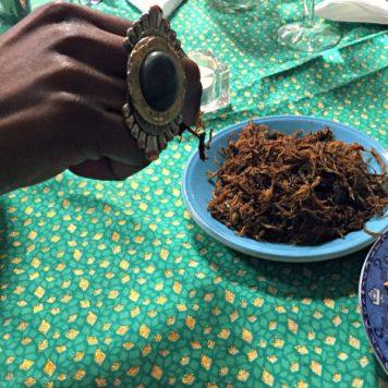 Dambu nama, dried meat floss traditonally eaten in Northern Nigeria, Tokunbo's Kitchen