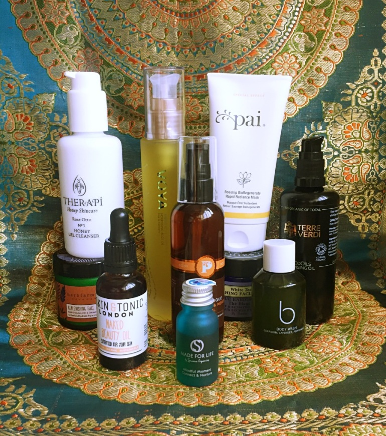 A selection of Soil Association certified skincare brands
