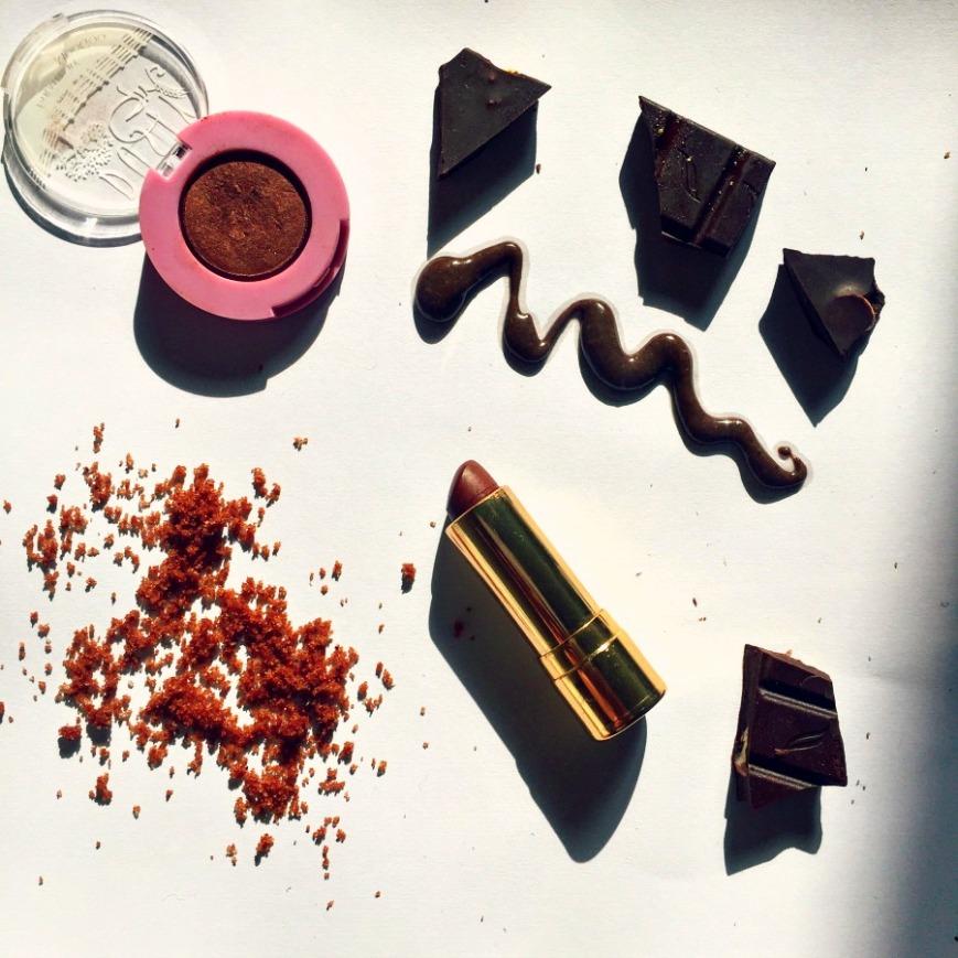 Beauty products sweet like chocolate