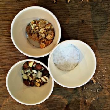 Almonds, sea salt and biscotti