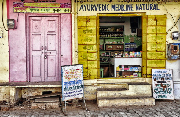 Ayurveda store front