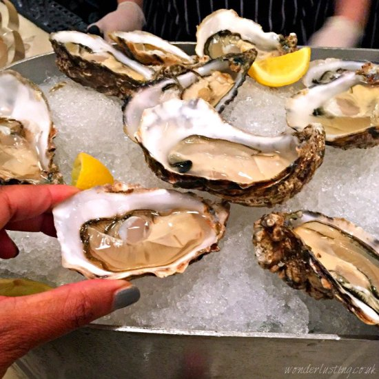Oysters at Hix Oyster & Chop House