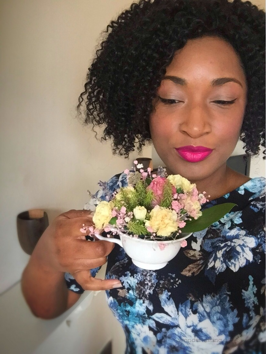 mother's day flowers in a teacup