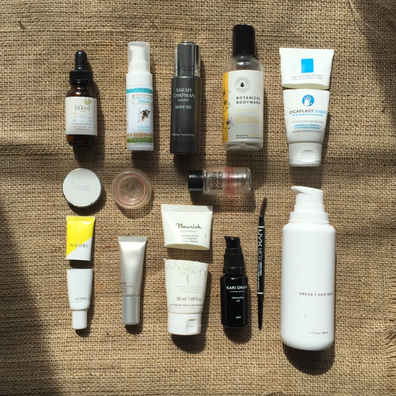 March 2017 natural and organic skincare empties