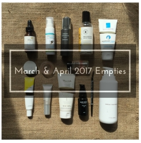 How Many Beauty Products Do You Use Up In A Year? March and April Empties