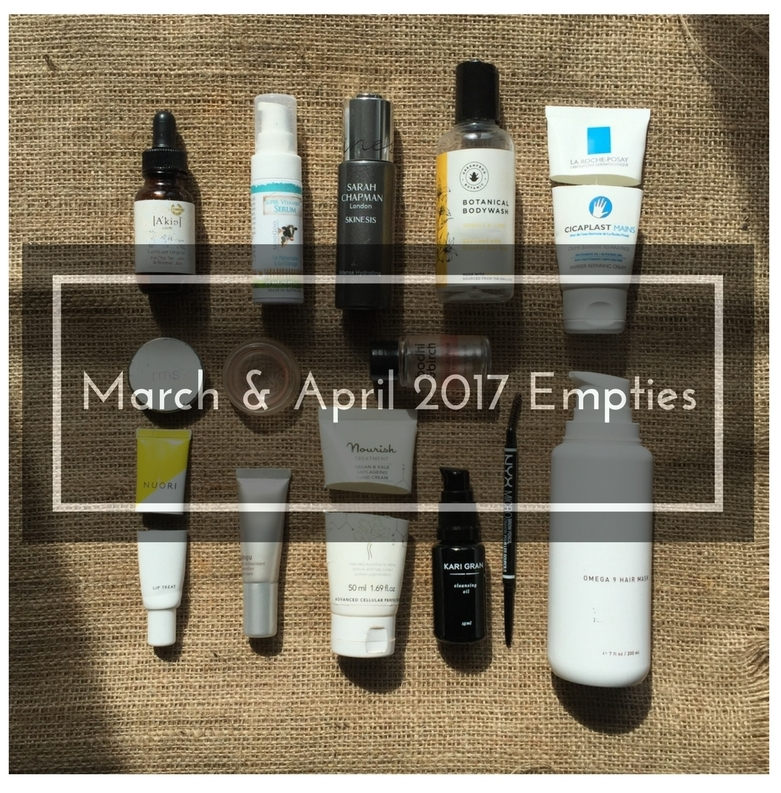 natural and organic beauty empties