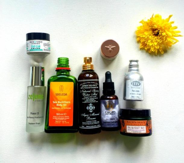 Green beauty empties - zelens, weleda, africology, cacay, mv, skin&tonic, herbfarmacy