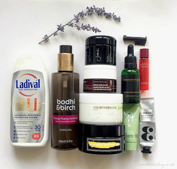 Green Beauty Empties June 2017 - Ladival, Bodhi & Birch, Sodashi, Korres, Goldfaden, Supernatural Beauty, Mahogany Naturals, Madara, Prismology, Verso, Rimmel