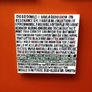 Letter to Donald Trump, Bob+Roberta Smith-Summer Exhibition RA