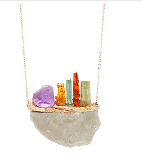 Gemstone Sunset Necklace - UncommonGoods