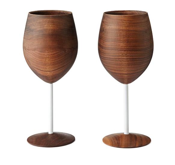 Sustainable Christmas Gift - David Rasmussen Wooden Wine Glasses