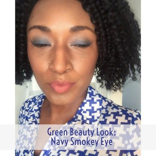 Green Beauty FOTD - Navy Smokey Eye
