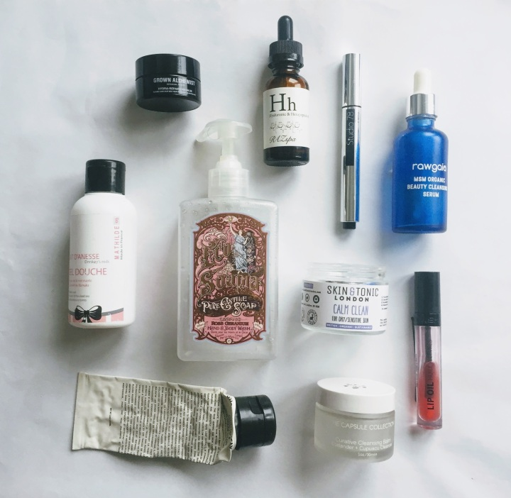 green beauty empties - october 2017