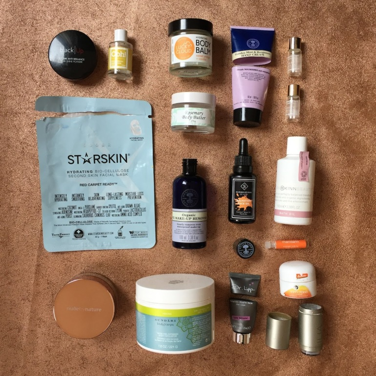 November 2017 green beauty empties