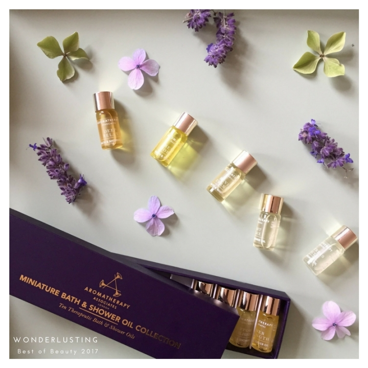 best organic and natural beauty - aromatherapy associates miniature bath and shower oil collection