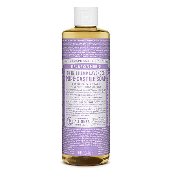 meghan markle's favourite dr bronner's lavender castile soap