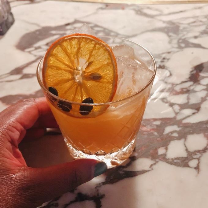 Pause Café (no alcohol) - OTO CBD bitters, coffee, Seedlip Citrus, marmalade, maple syrup, London Essence tonic water