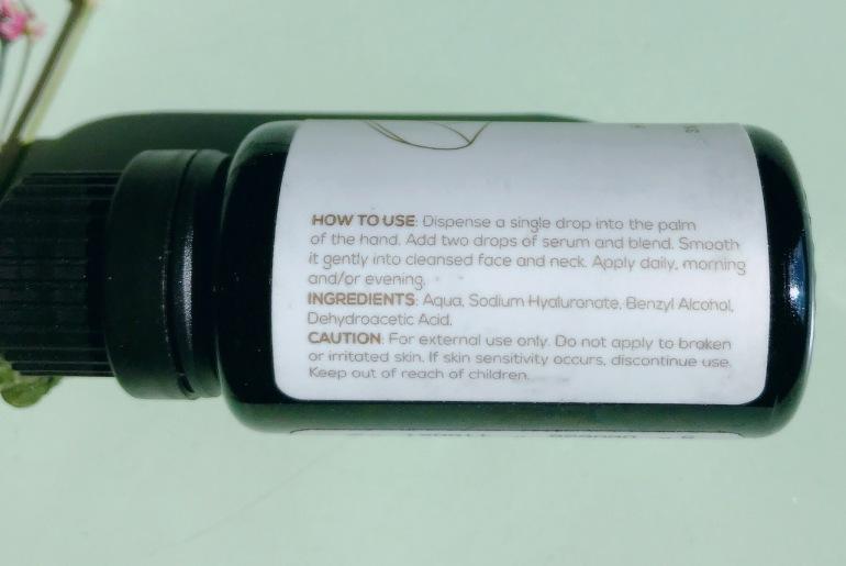 Elan Dream Hyaluronic Acid booster ingredients